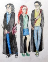 Severus, Lily and James. by Diana-Reffol15