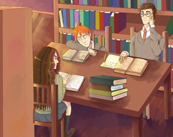 At the library by RitsuTainaka13