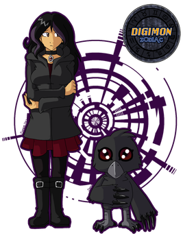 Digimon Zodiac: Xanthia and Morgana by fox-song