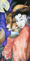 Kitsune by Night by sphinxmuse