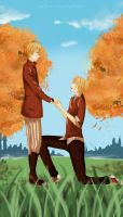 Commission - Autumn park by YuriOokino