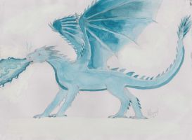 Ice Dragon by Ivywhisker99