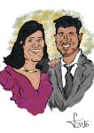Couple Caricature 16.03.29 by Gambit-El
