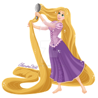 Rapunzel - I'll brush my hair by SabakuNoTemari88