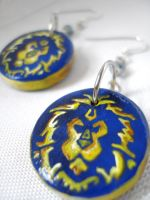 WoW Alliance Earrings by Erisana