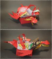 Christmas gift box - Dragon red by sjupiter-belcha