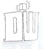 New Doctor Who logo UNCOLORED by wolfstare5