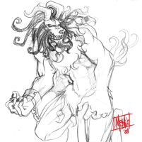 Ifrit Doodle by Menkoholic