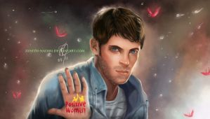 Joseph Morgan Supports Positive Women by MirRoriel