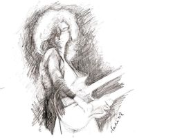 Jimmy page sketch by natakukikori