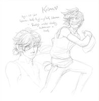 OC Sketch- Kosan by Kinky-chichi