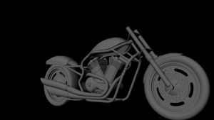 Motorcycle WIP by Airpainter13