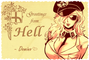 Domino's Greeting Card from Hell by TourianTourist