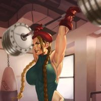 Cammy is a strong woman! (avatar) by muscle-fan-comics