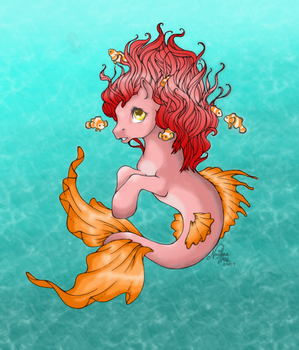 Coral Reef  - A Merpony by xMikimiki