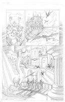 Snowmanilas #3, Page 22 PENCILS by Theamat