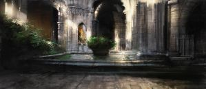 Church Cloisters Pool by atomhawk