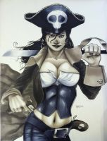 Pirate Babe HC 2011 Con Sketch by RichardCox