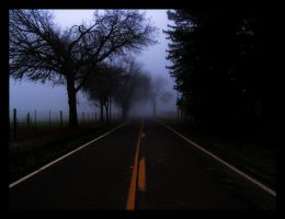 Foggy Road at Dusk by cancer99