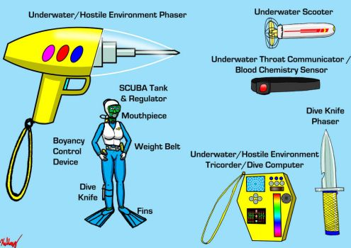 Underwater Equipment for an Aquashuttle Crew by kelloggs2066