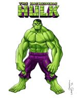 The Incredible Hulk pinup by lukesparrow