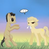 Monk and Natalie-Pony by Jack-a-Lynn