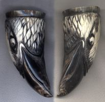 Eagle sampler cup,shot glass by Bonecarverpm