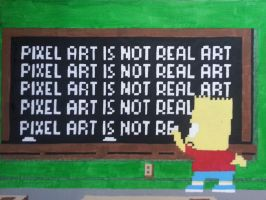 Pixel Art Is Not Real Art by justjzoo