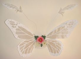 White Monarch Fairy Wings by customfairywings