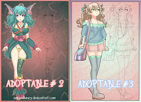 ADOPTABLES #2 +#3 AUCTION [CLOSED] by sugarnhoney