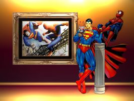 Superman vs Spiderman WP 3 by Superman8193