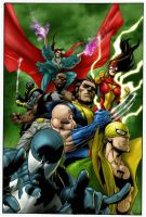 The new avengers 28 by Prestegui