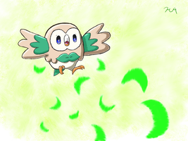 Arrow the Rowlet, My First Starter by HarmonytRocketEeveon