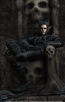 The Prince of Hell is Bored by 3D-Fantasy-Art