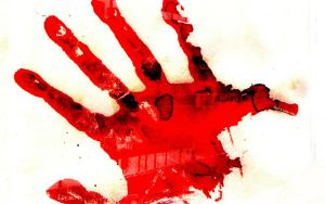 Bloody hand by aasemsj