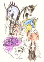 myequinechar heads2 by moonfeather