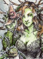 ACEO/ATC Poison Ivy by Kaos-Nest