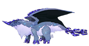 Gem Dragons: Benitoite by Stormful