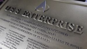 Enterprise Dedication Plaque by Euderion