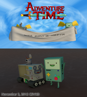 Adventure Time with BMO and NEPTR by VERTEX768MHz