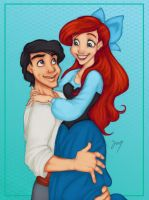 Art Trade - Eric and Ariel by Tell-Me-Lies