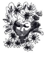 Black And White Flowers by dorandsugar