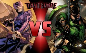 DEATH BATTLE: Hawkeye vs Green Arrow by G-Odzilla