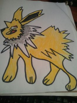Jolteon Drawing by Megamanx3able