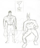Superman And Batman Redesigned by FG-Arcadia