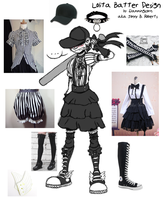 Lolita Batter cosplay design by flammingcorn