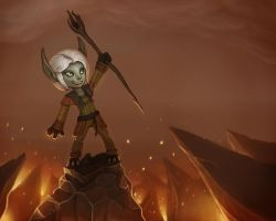 Guild Wars 2 Fan Art - My Asura Elementalist by stonepro