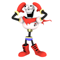 Papyrus from undertale, render3 by Nibroc-Rock