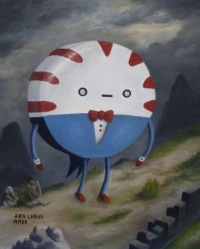 Peppermint Butler oil painting by chromatic-black