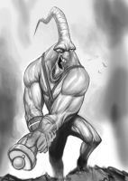 Earthworm Jim Sketch (WIP) by omegaman20